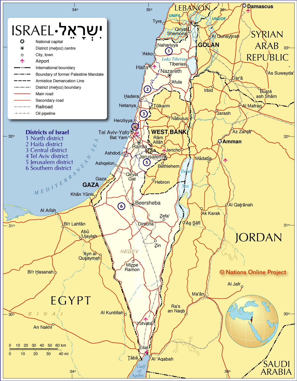 Jerusalem Tours Israel Maps – Tourist Map of Israel